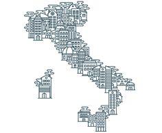 house illustration in graphic for Casa 24, Il Sole 24 Ore - Marco Goran Romano #maps #illustration #houses