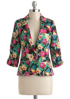 Take the Fleur Blazer, #ModCloth  Great work alternative to a boring black or grey...hmmm want one!