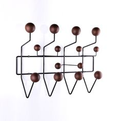 Mid-Century Modern Reproduction Small Hang It All Coat Rack - Walnut Inspired by Charles and Ray E.