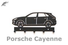 Wieszak na klucze / key rack - Porsche Cayenne   Worldwide Shipping  #wieszak #Porsche #Cayenne #klucze #design #dekoracja #pomysl #prezent #idea #car #auto #samochod #black #gift #poland #quality #key #gadzet #czarny #wall #hanger #rack