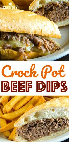 Crock Pot Beef Dips recipe from The Country Cook Loading. Crock Pot Beef Dips recipe from The Country Cook Crock Pot Slow Cooker, Crock Pot Cooking, Slow Cooker Recipes, Cooking Recipes, Catering Recipes, Easy Cooking, Cooking Tips, Dip Recipes, Crockpot Recipes
