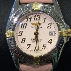 Breitling Callistino Ref. D72345 - Dames horloge - Staal/Goud  Breitling Dames HorlogeStaal/GoudCallistinoModel Nr: D72345zonder doos en papierenUurwerk: quartzKast: staal rond 29mm 11mm dikLunette:staal/goudBand: Roze Leder ca. 15 cm en ca.  2cm te vergrotenSluiting: vouwsluiting staalWijzerplaat: witIndex: cijfers goudGlas: saffierglasDeksel: staalBouwjaar: jaren 2000Secondewijzer: centraalDatum: jaWordt wereldwijd verstuurd  EUR 1.00  Meer informatie