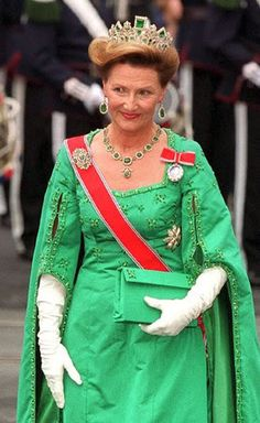 Queen Sonia with the Empress Josephines emeralds.  SHE has the rest of my emeralds LOL!!!