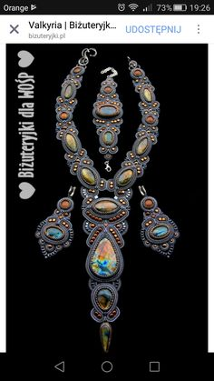 Soutache Pendant, Soutache Necklace, Earrings, Shibori, Labradorite, Beads, Jewelry, Macrame, Necklaces