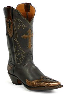 Hand-Tooled Leather Boots Style HT-142 Custom-Made by Black Jack Boots