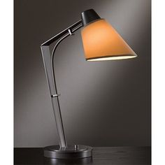 Reach Black One-Light Desk Lamp with Doeskin Suede Shade - (In 10 - Black)