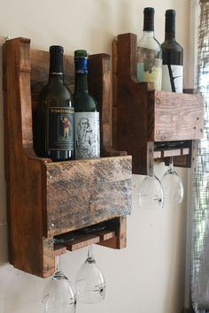 Mini Pallet Wine Racks Two by AmherstWoods on Etsy