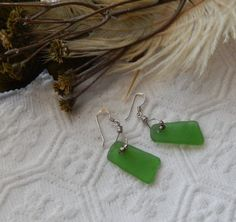 One of a Kind Sterling Silver and Green Sea Glass by bijoullery