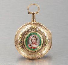 18k Gold smalt Abraham Faizan Paris ¼ Repeater 1760 stranový Fusee kapesní hodinky