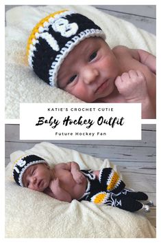 Do you know any little Hockey Fan out there? Dress up your little baby boy in this adorable Hockey Set! Cheering for another team? Head over to my shop to see all the available options! Available in size Newborn and 0-3 Months. A full set includes the hat with the number of your choice, diaper cover, socks and the hockey skates! Little all star in training! Perfect #babyshowergift for any Hockey loving family or future #hockeymom in the making! Baby Girl Crochet, Crochet Baby Clothes, Crochet Hats, Newborn Crochet, Crochet Outfits, Hockey Gifts, Hockey Mom, Hockey Outfits, Boston Bruins