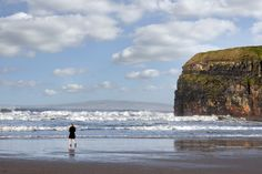 """An image called """" woman in high heels on beach """". Taken on the Wild Atlantic Way at Ballybunion beach, county Kerry on the west coast of Ireland. To see more images like this go to www.morrbyte.com West Coast Of Ireland, More Images, Womens High Heels, Woman, Beach, Seaside, Women, Shoes Heels, Beaches"""