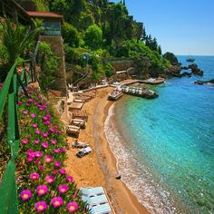 Mermerli Beach Club in Antalya / Turkey. - I wonder. a lot. Turkey Pics, Side Turkey, Marmaris Turkey, Alanya Turkey, Pictures Of Turkeys, Ancient City, Places To Travel, Places To Visit, Beach Club