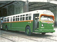 PTC/SEPTA GMC TDH-5105 bus 3623 as a work bus at Luzerne Depot, 1976.