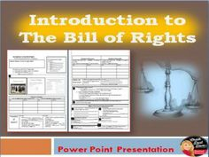 TES This Power Point Presentation introduces the Bill of Rights by describing each right and reviewing what one can and cannot do for each right. This can be used in any social science classroom especially Civics or U.S. Government. Creative CLOZE notes are included!