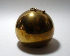 // Vintage 1970s' Harold Kerr Solid Brass Vase
