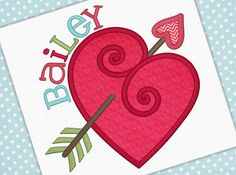 Valentine Applique Heart Embroidery Design by PetuniaPetalsDesigns