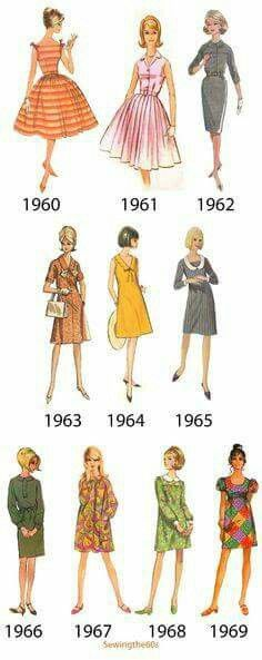 Style changed so much from beginning to end of 1960s