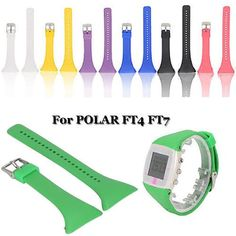 For Polar Ft4 Ft7 Watch Genuine Silicone Rubber Watch Band Strap Replacement
