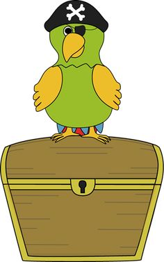 treasure chest with parrot - person on the first day that have this under their chair wins a prize! ice breaker on the first day!