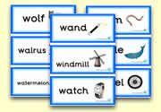 'w' themed flashcards