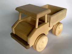 Wooden Truck with building blocks - eco-friendly organic toy for kids