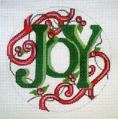 """HP 4"""" Joy, 18ct. needlepoint canvas"""