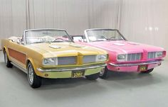 George Barris built tacky fur lined Mustangs for Sonny & Cher