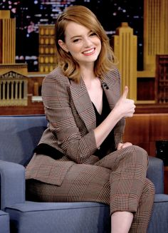 Emma Stone Visits 'The Tonight Show Starring Jimmy Fallon' at Rockefeller Center on December 1, 2016 in New York City