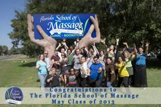Congratulations to our May Class 2013! Graduation this Friday at 1 pm. www.floridaschoolofmassage.com
