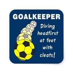 soccer goalie stickers   Soccer Goalkeeper Sticker from Zazzle.com