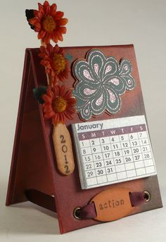 Calendar Easel, using Club Scrap products by Deb Charlesworth