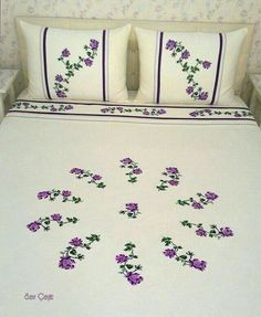 Bedsheet embroidery