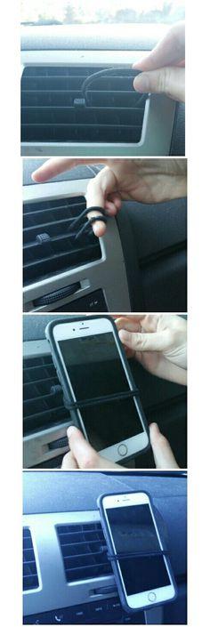 DIY Car Cell Phone Holder