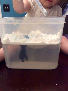Rain cloud water experiment preschool April showers theme
