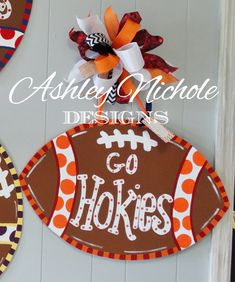 Virginia Tech Inspired Football Door by DesignsAshleyNichole, $50.00