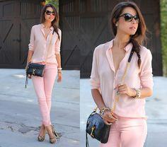Pink & Pepper Pumps, Rebecca Minkoff Bag, Paige Denim Jeans, Ivi Vision Sunnies