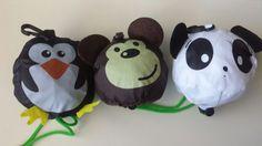 cute panda monkey penguin reusable  shopping bag totes | Clothing, Shoes & Accessories, Women's Handbags & Bags, Travel & Shopping Bags | eBay!