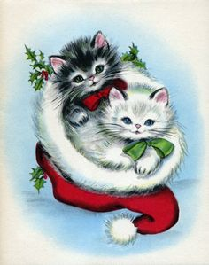 Vintage Animals - Animals - Vintages Cards - Christmas Wallpapers, Free ClipArt for Xmas, Icon's, Web Element, Victorian Christmas Photos and Vintage Santa Claus pictures