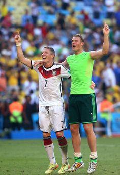 Bastian Schweinsteiger & Manuel Neuer-World Cup 2014.
