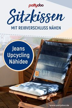 Kissenbezug mit Reißverschluss nähen - Super Jeans Upcycling!,  #jeans #kissenbezug #nahen #super #upcycling #verschluss Diy Pillows, Cushions, Sewing Jeans, Diy Mode, Old Jeans, Ripped Jeans, Denim Jeans, White Jeans, Skinny Jeans
