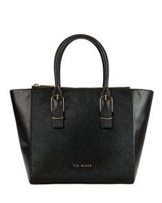 Large zip shopper - Black | Bags | Ted Baker ROW