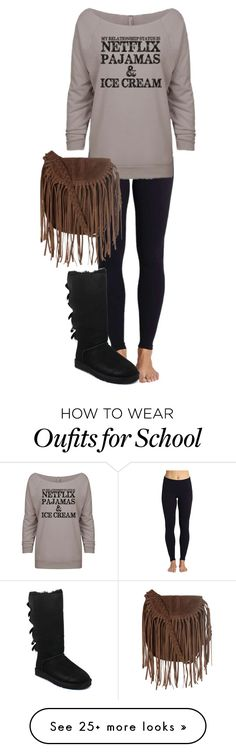 """""""school ugh"""" by gracerose03 on Polyvore featuring Beyond Yoga, UGG Australia and Glamorous"""