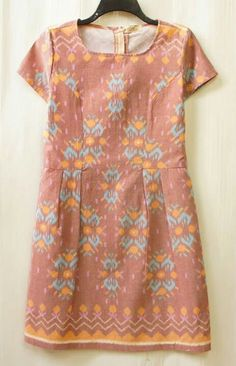 Peach Tenun Dress