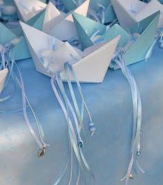 little light blue boats