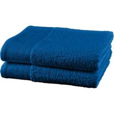 Buy ColourMatch Pair of Bath Towels - Marina Blue at Argos.co.uk - Your Online Shop for Towels. Marina Blue, Argos, Bath Towels, Stuff To Buy, Shopping, House, Home, Homes, Argo