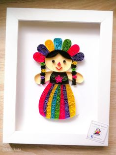 New Wall Hanging Paper Craft Frames Ideas Quilled Paper Art, Paper Quilling Designs, Quilling Paper Craft, Quilling 3d, Quilling Patterns, Paper Crafts, Diy Crafts, Paper Paper, Mexican Crafts