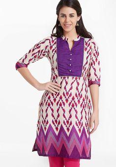 Purple Printed Kurti - Soch Kurtas & kurtis for women | buy women kurtas and kurtis online in indium