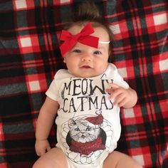 « MEOWY CATMAS » BODYSUIT. The Pine Torch. Baby christmas onesie, funny christmas onesies, baby girl holiday outfit