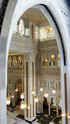 A stunning view of the  newly  completed  area of  masjid al Haram # Mecca