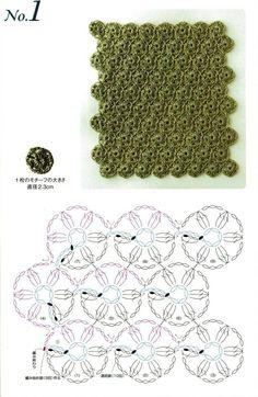 Bonitos puntos en crochet con patrones : cosascositasycosotasconmesh
